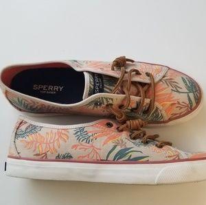Sperry Hawaiian print shoes